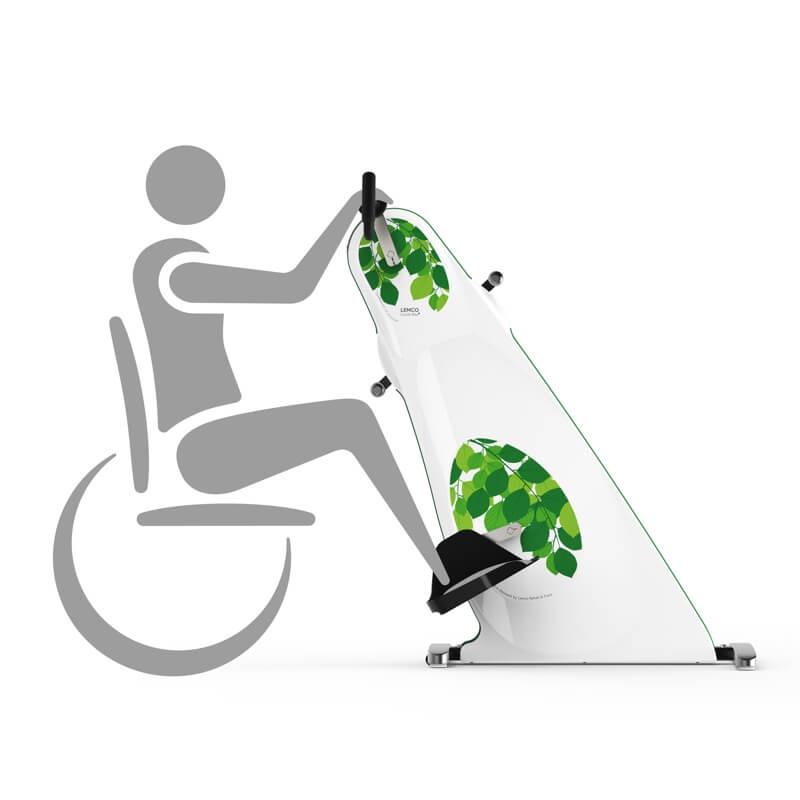 LEMCO Combi Bike Plus Exerciser for wheelchair