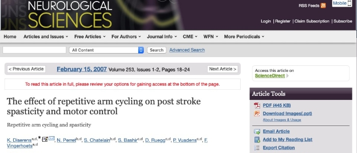 Effect of repetitive arm, cycling on post stroke