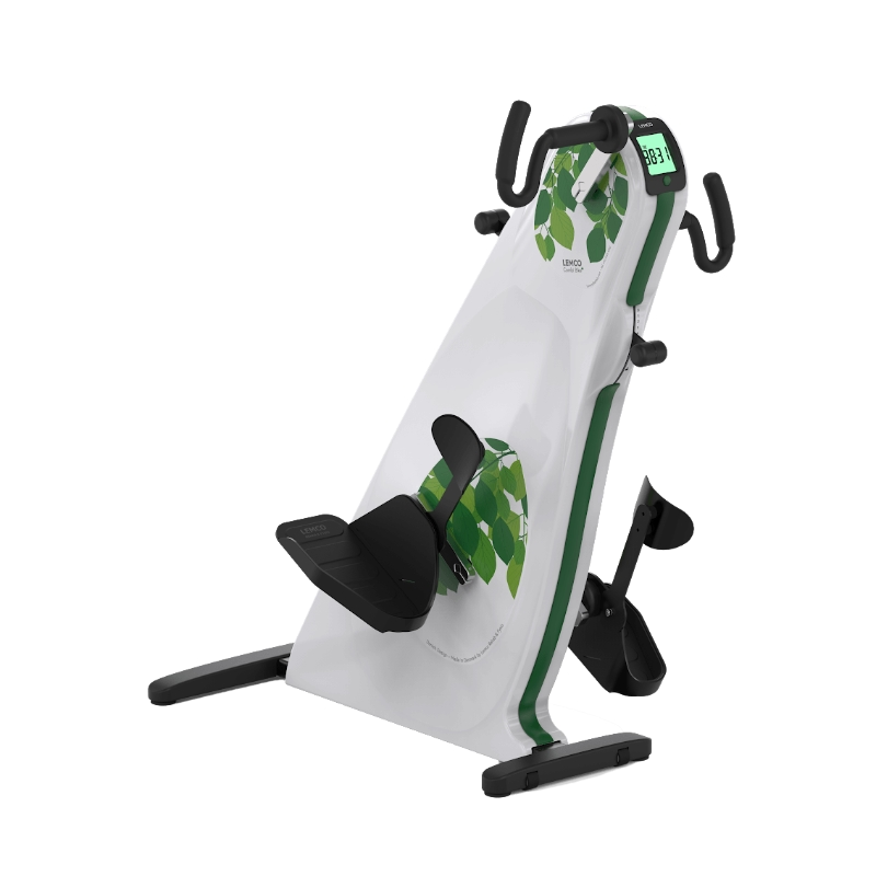 Arm / Leg Exerciser for wheelchair users with leg support