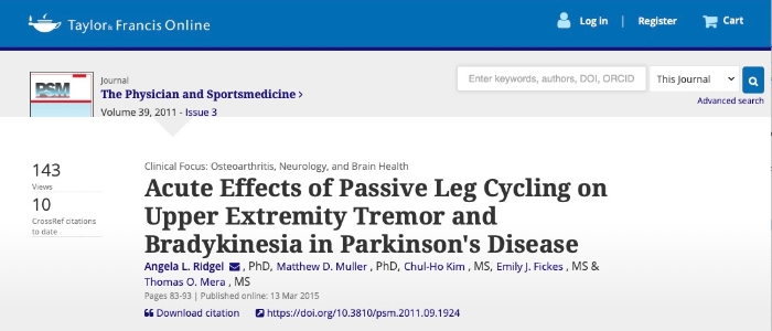 Parkinsons leg cycling tremor